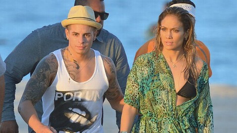 gty jennifer lopez casper smart ll 130506 wblog J.Lo Rushed to Safety After Shots Fired Near Music Video Set