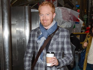 "PHOTO: Actor Jesse Tyler Ferguson leaves the ""Big Morning Buzz"" taping at the VH1 Studios, Dec. 7, 2012 in New York City."