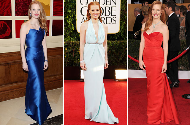 gty jessica chastain dresses nt 130215 blog Oscars 2013: Who Should Wear What?
