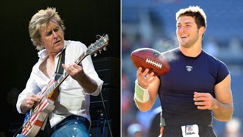 gty john parr tim tebow jp 120111 wblog Tim Tebow Honored with Two Songs by St. Elmos Fire Rocker