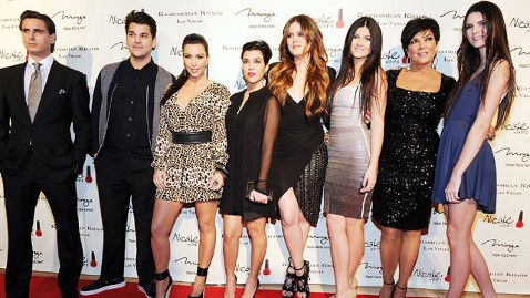 gty kardashian family thg 111219 wblog Kardashian Family Reveals Dramatic Christmas Card for 2011