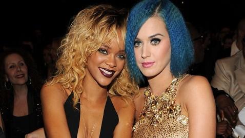 gty katy perry rihanna nt 130214 wblog Katy Perry Down on Rihanna for Dating Chris Brown: Report