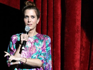 PHOTO: Kristen Wiig speaks onstage during the 20th Century Fox Cinemacon Press Conference at Caesars Palace during CinemaCon, April 18, 2013, in Las Vegas.