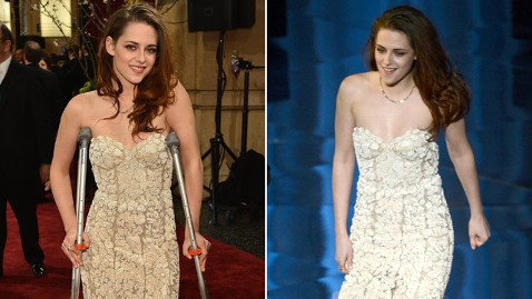 gty kstew split kb 130224 wblog Oscars 2013: Kristen Stewart Hobbles on Stage