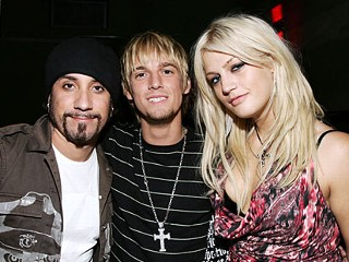 PHOTO: AJ McLean, Aaron Carter and Leslie Carter