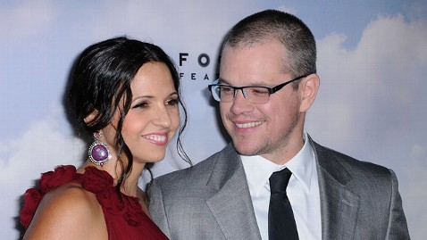 gty matt damon luciana barroso jt 130413 wblog Matt Damon and Wife Luciana to Renew Their Vows