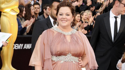 gty melissa mccarthy 120226 wblog Oscars 2012 Fashion Report: Angelina, Meryl and Melissa