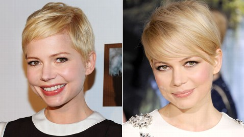 gty michelle williams hair dm 130221 wblog Michelle Williams Growing Hair Long Again