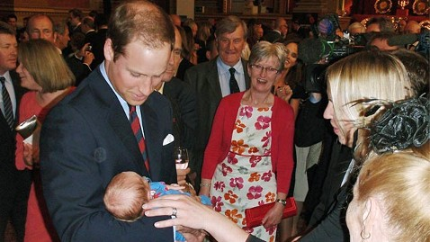gty prince william ll 120426 wblog As First Wedding Anniversary Approaches, Prince William and Kate Middleton Admire Baby Boy