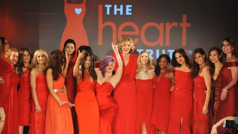 gty red dress fashion week show group thg 130207 wblog Celebs Rule Runway at Heart Truth Fashion Show