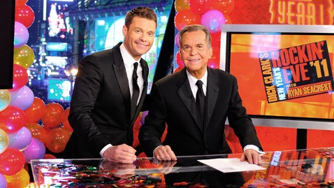 gty ryan seacrest dick clark dm 111229 wblog Ryan Seacrest Talks New Years Rockin Eve Details: Dick Clark, Lady Gaga and His Resolution