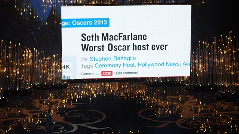 gty seth macfarlane host worst tweet thg 130224 wblog Oscars 2013: Academy Awards Live Updates