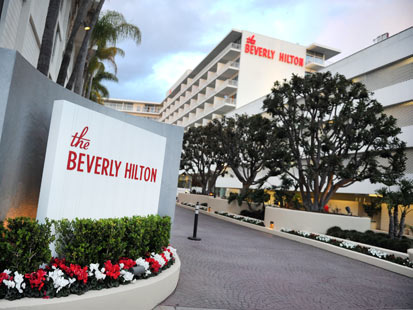 gty whitn ey houston beverly hills hilton thg 120211 main Beverly Hilton Hotel, Known as The Place to See and Be Seen