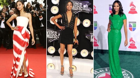 gty zoe saldana cannes vmas latin grammy cc 111123 wblog VOTE: Who Ruled the Red Carpet in 2011?