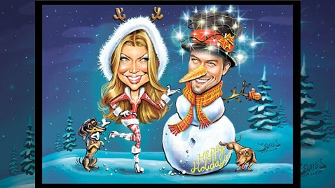 ht Fergie Josh Duhamel nt 111221 wblog Season Greetings From Fergie and Josh Duhamel