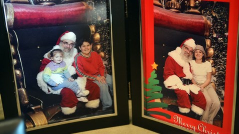 ht Santa pics displayed wedding nt 121206 wblog Boy Sits on Santas Lap, Realizes Its Father in Law 13 Years Later