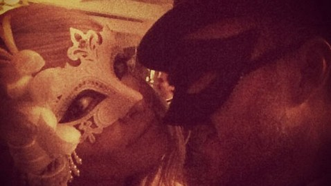 ht aaron paul mask mi 130527 wblog New Wedding Photos: Aaron Paul and Lauren Parsekian Say I Do