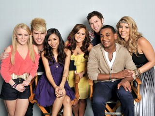 PHOTO: Hollie Cavanagh, Colton Dixon, Jessica Sanchez, Skylar Laine, Phillip Phillips, Joshua Ledet and Elise Testone are American Idol's top seven.