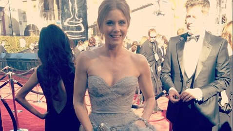 ht amy adams instagram oscars thg 130224 wblog Oscars 2013: Stars Arrive on the Red Carpet