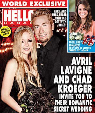 ht avril lavigne hello canada nt 130703 11x13 384 First Photo: Avril Lavignes Black Wedding Dress