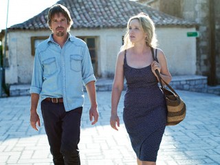 "PHOTO: Ethan Hawke and Julie Delpy are seen in their roles as Jesse and Celine in the 2013 film, ""Before Midnight"", a sequel to their earlier films, ""Before Sunrise"" and ""Before Sunset""."