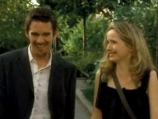 "PHOTO: Ethan Hawke and Julie Delpy are seen in the trailer of the 2004 film of ""Before Sunset""."