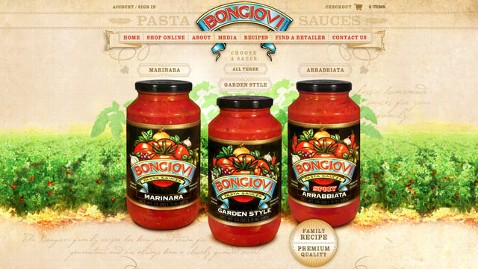 ht bongiovi dm 120606 wblog Bon Jovi Launches New Line of Pasta Sauces