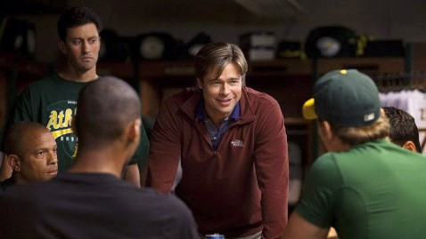 ht brad pitt moneyball jp 110922 wblog Brad Pitt Offers Words of Hope to Suicidal Actor