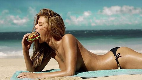ht carls jr nina agdal 1 nt 130206 wblog Sports Illustrated Model Nina Agdal Stars in Sexy Carls Jr Commerical