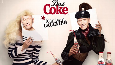 ht diet coke jean paul gaultier nt 120413 wblog Couture Coke Bottles Inspired by Madonna