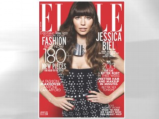 PHOTO: Jessica Biel covers the January issue of ELLE magazine.