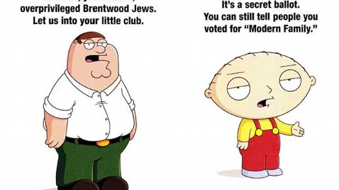 ht family guy emmy mailer thg 120530 wblog Family Guy Ad for Emmy Voters Targets Brentwood Jews