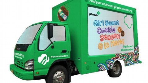 ht girls scout cookie wy 130208 wblog Cookie Truck Debuts for National Girl Scout Cookie Day