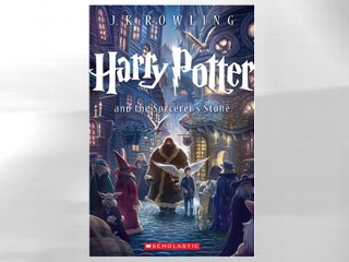 "PHOTO: The cover for ""Harry Potter and the Sorcerer's Stone"" is shown."