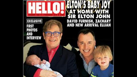 ht hello magazine elton john david furnish family thg 130128 wblog Elton John Introduces New Baby Boy, Elijah Joseph Daniel
