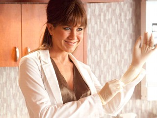 "PHOTO: Jennifer Aniston is shown in a scene from the film ""Horrible Bosses."""