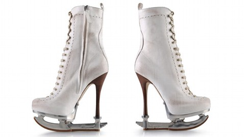 ht ice skates high heels dm 111223 wblog Would You Wear These High Heeled Ice Skates?