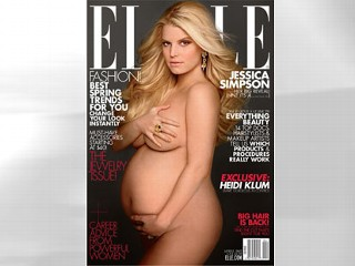 PHOTO: Jessica Simpson Appears on the Cover of the April issue of Elle Magazine.