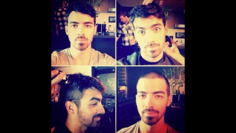 ht joe jonas shaves head instagram thg 130605 wblog Poll: Do You Like Joe Jonass Shaved Head?