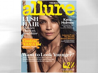 PHOTO: Katie Holmes graces the cover of the April 2013 edition of Allure.