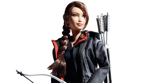 ht katniss hunger games barbie jp 120409 wblog The Hunger Games Katniss Barbie Doll Revealed