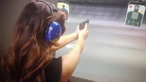 ht kim kardashian gun range jef 130205 wblog Kim Kardashian Fans Outraged Over Gun Photo
