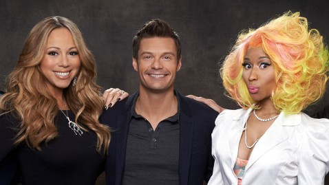 ht mariah carey nicki minaj idol nt 120918 wblog Mariah Carey, Nicki Minaj Laugh Off American Idol Feud Rumors