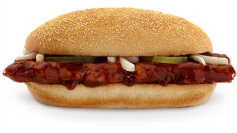 ht mcdonalds McRib sandwich thg 120918 wblog McDonalds McRib Back for Christmas