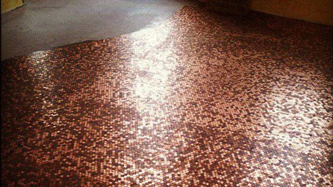 Penny Floor Instructions Floor With 250,000 Pennies