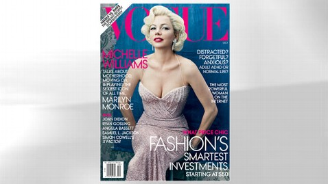 ht michelle williams vogue dm 110913 wblog Is Michelle Williams Believable as Marilyn Monroe?