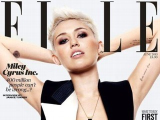 PHOTO: Miley Cyrus appears on the cover of the June 2013 issue of Elle magazine.