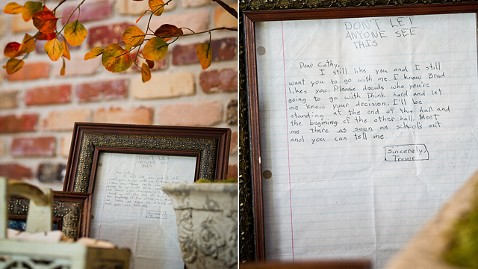 ht ms love letter jp 121203 wblog Middle School Love Letter Displayed at Wedding 22 Years Later