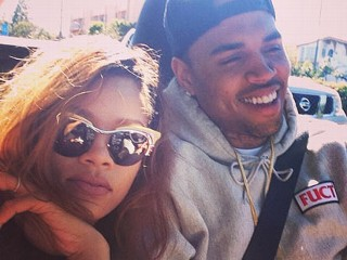 PHOTO: Rihanna posted this image of herself with Chris Brown on Twitter on April 11, 2013.