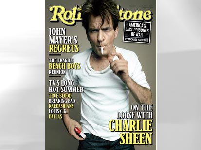 ht rolling stones cover Charlie Sheen thg 120606 main Charlie Sheen Says Havoc, Mayhem Were Never Part of Master Plan